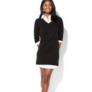 NY &Co collar detail sweater dress.
